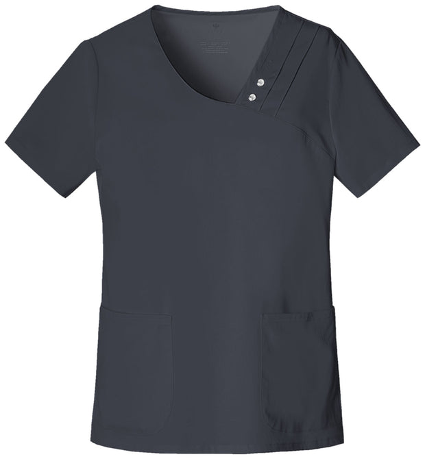 1999<br> Crossover V-Neck Pin-Tuck Top