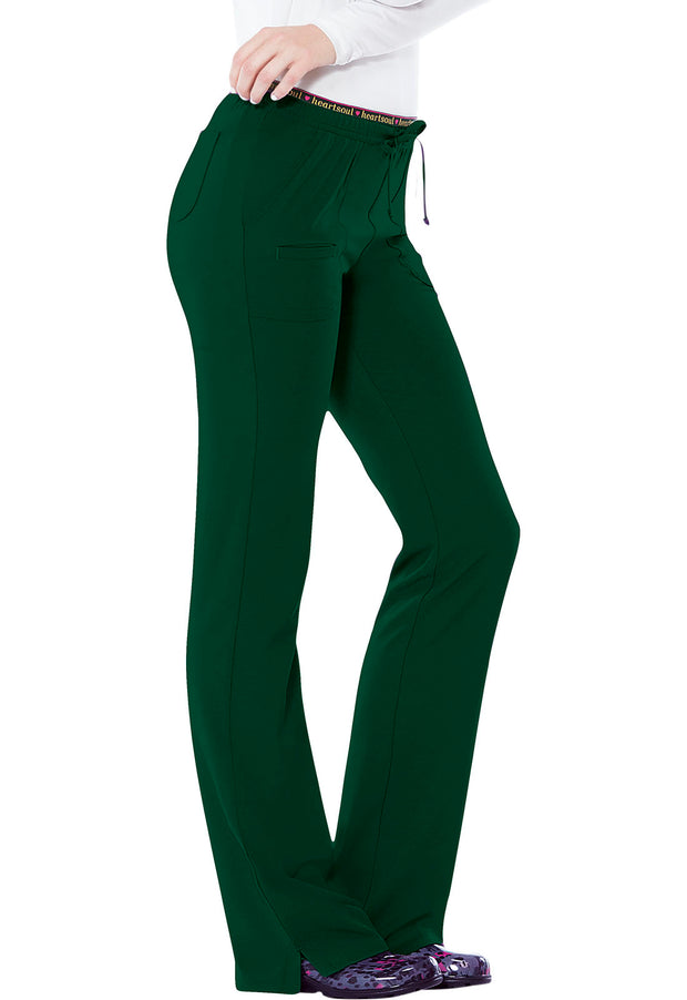 Heartsoul Break On Through Women's Low Rise Drawstring Pant - 20110P  Petite - ScrubHaven