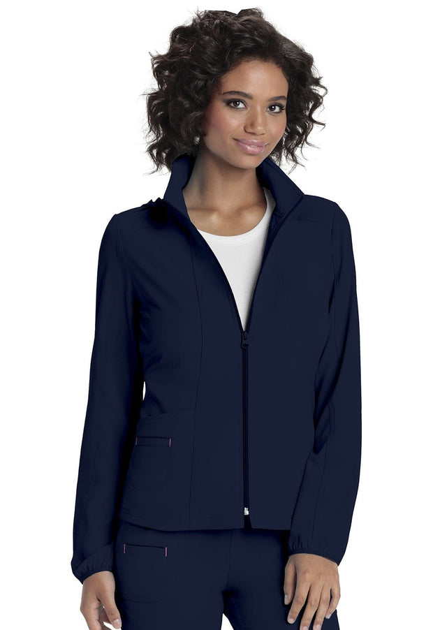 Heartsoul Break On Through Women's Zip Front Warm-Up Jacket - 20310 - ScrubHaven