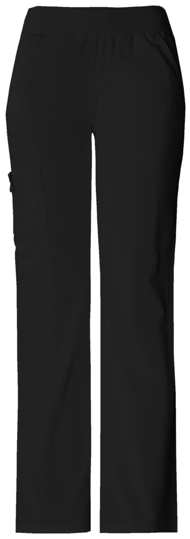 Cherokee Flexibles (Tonal) Women's Mid Rise Knit Waist Pull-On Pant - 2085T  Tall - ScrubHaven