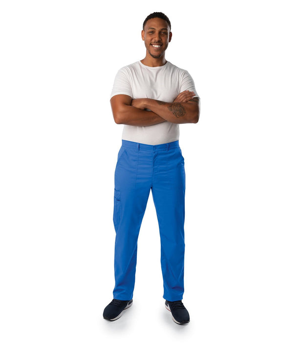 2103 MENS  DRAWSTRING FRONT ELASTIC BACK CARGO PANT - ScrubHaven