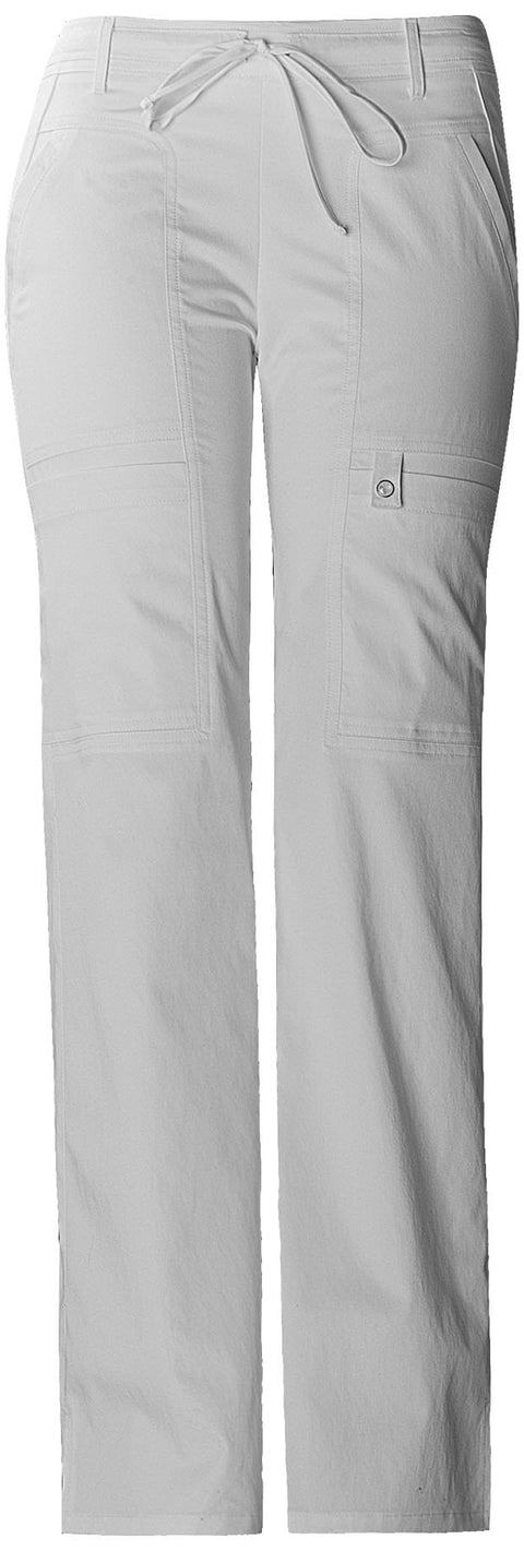 Cherokee Luxe Contemporary Fit Women's Low Rise Flare Leg Drawstring Cargo Pant - 21100P  Petite - ScrubHaven