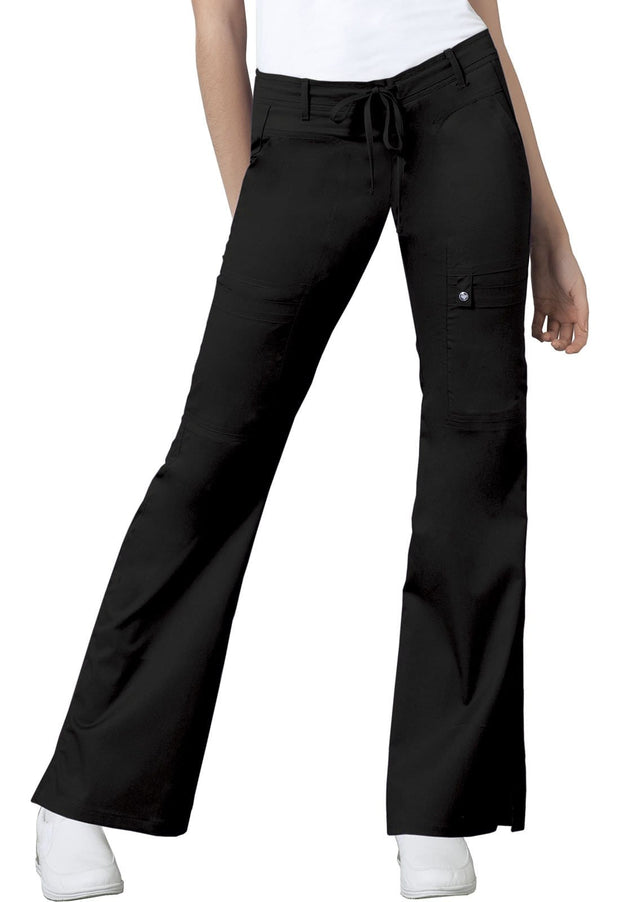Cherokee Luxe Contemporary Fit Women's Low Rise Flare Leg Drawstring Cargo Pant - 21100T  Tall - ScrubHaven