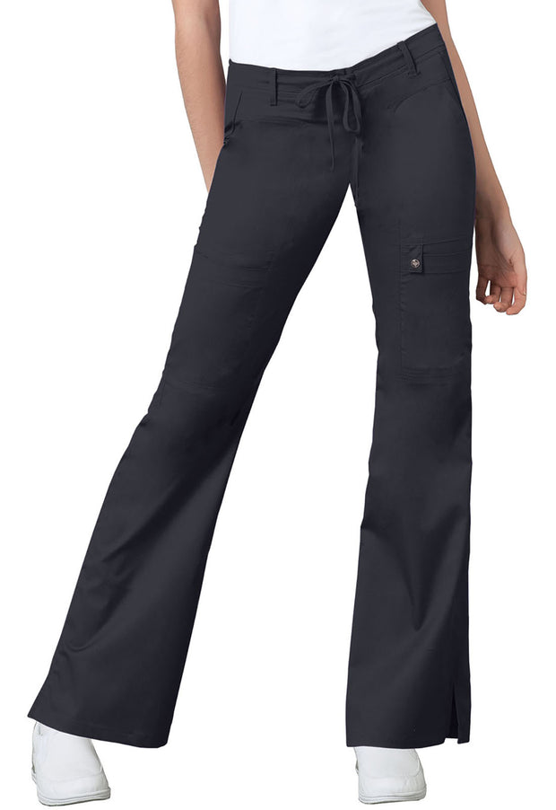 Cherokee Luxe Contemporary Fit Women's Low Rise Flare Leg Drawstring Cargo Pant - 21100T  Tall