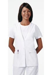 Cherokee Professional Whites Women's Lace Trimmed Vest - 2610