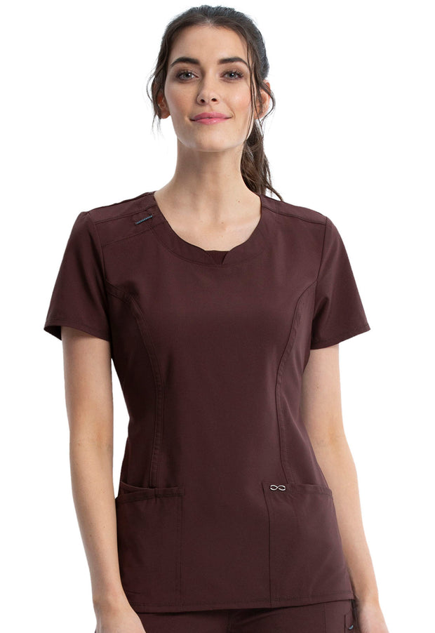Cherokee Infinity Women's Round Neck Top - 2624A