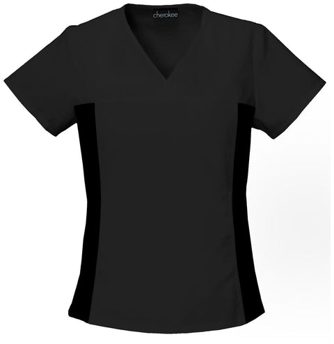 Cherokee Contrast  Scrub Top | Cherokee Flexibles Women's Top - 2874