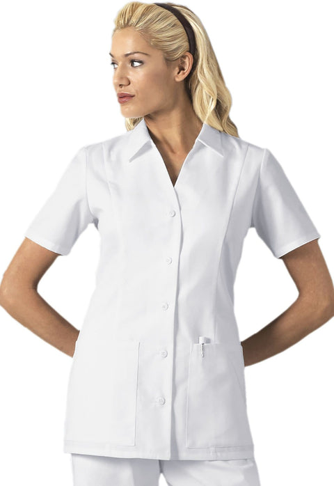 Cherokee Professional Whites Women's Button Front Top - 2879 - ScrubHaven