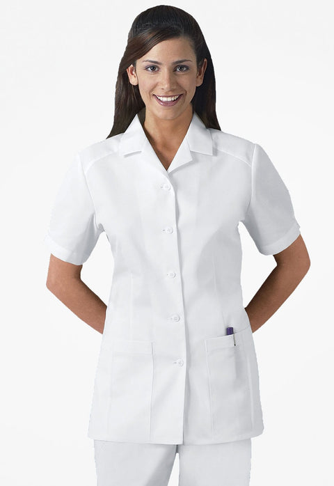 Cherokee Professional Whites Women's Button Front Top - 2880 - ScrubHaven