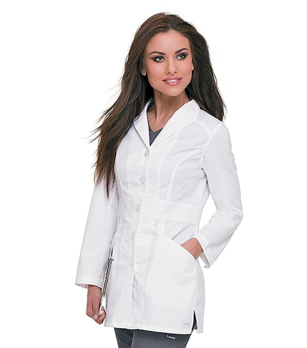 3028 WOMENS SMART STRETCH SIGNATURE LAB COAT - ScrubHaven