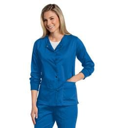 3507 WOMENS ALL DAY SNAP FRONT WARM UP SCRUB JACKET