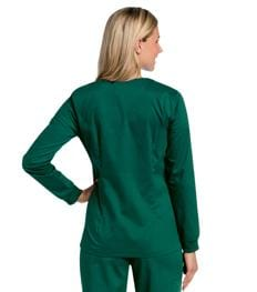 3507 WOMENS ALL DAY SNAP FRONT WARM UP SCRUB JACKET - ScrubHaven
