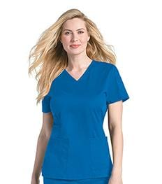 4125 WOMENS PRE-WASHED V-NECK TOP
