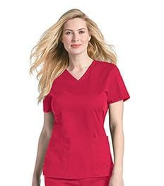 4125<br> WOMENS PRE-WASHED V-NECK TOP