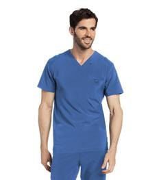 4142 Men's Media Scrub V-Neck Top - ScrubHaven