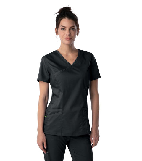 4161 WOMENS MODERN FAUX SURPLICE TUNIC