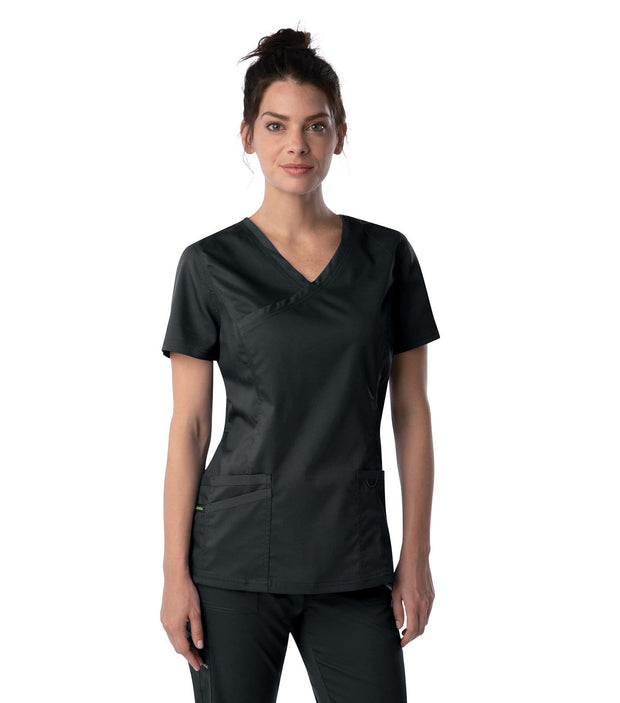 4161<br> WOMENS MODERN FAUX SURPLICE TUNIC