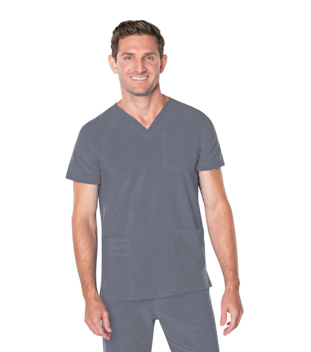 4253<br> MEN'S V NECK 4 POCKET TOP