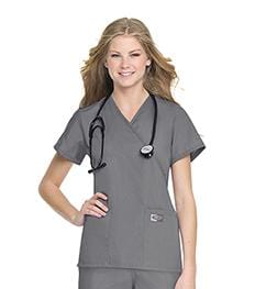70224 WOMENS FAUX WRAP TUNIC