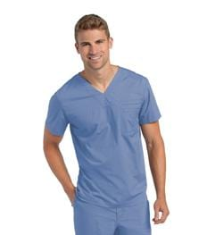 7478<br> MEN'S PRE-WASHED V-NECK TUNIC