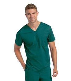 7478 MEN'S PRE-WASHED V-NECK TUNIC