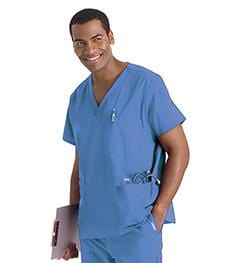 7489<br> MEN'S 5-POCKET SCRUB TOP