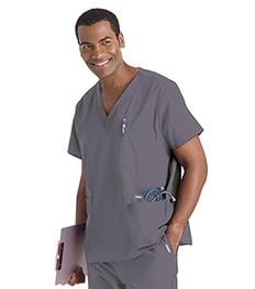 7489 MEN'S 5-POCKET SCRUB TOP