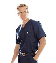 7594 MEN'S VENTED SCRUB TOP