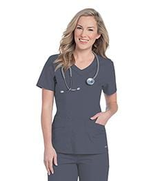 8110 WOMENS ROUNDED V-NECK TUNIC