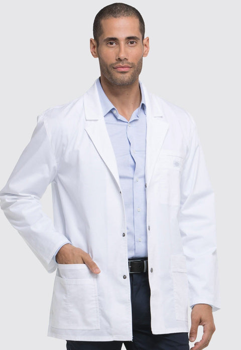 "Dickies Gen Flex Men's Lab Coat Men's 31"" Men's Snap Front Lab Coat - 81403 - ScrubHaven"