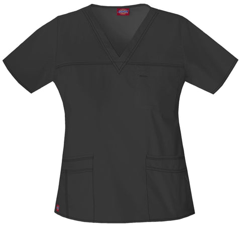 Dickies Gen Flex (Contrast) Women's V-Neck Top - 817455 - ScrubHaven