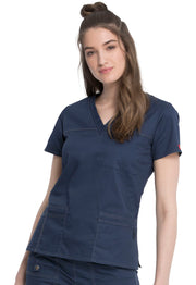 Dickies Gen Flex (Contrast) Women's V-Neck Top - 817455