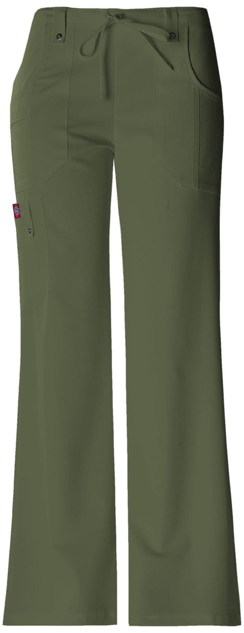 Dickies Xtreme Stretch Women's Mid Rise Drawstring Cargo Pant - 82011P  Petite - ScrubHaven