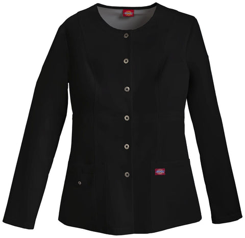 Dickies Xtreme Stretch Women's Snap Front Warm-Up Jacket - 82310 - ScrubHaven