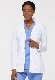 "Dickies Xtreme Stretch Women's 28"" Snap Front Lab Coat - 82400"