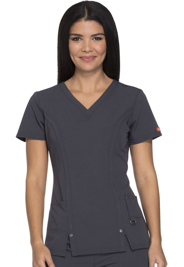 Dickies Xtreme Stretch Women's V-Neck Top - 82851 - ScrubHaven