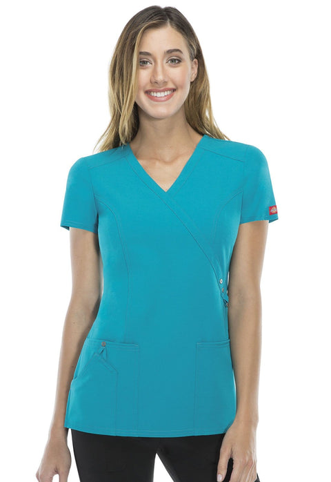 Dickies Xtreme Stretch Women's Mock Wrap Top - 85956 - ScrubHaven