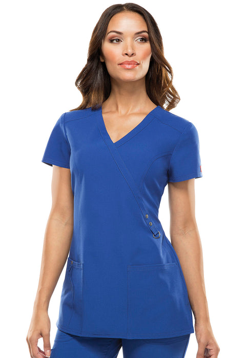 Dickies Xtreme Stretch Women's Mock Wrap Top - 85956