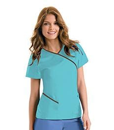9568<br> WOMENS CONTRAST WRAP AROUND TUNIC