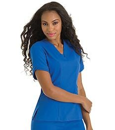 9576<br> WOMENS ELLA DOUBLE V-NECK TUNIC
