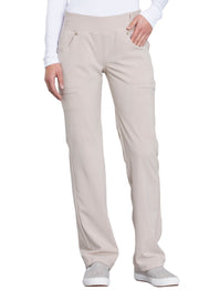 Cherokee iflex Women's Mid Rise Straight Leg Pull-on Pant - CK002T  Tall