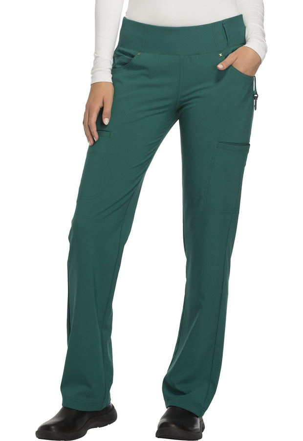 Cherokee iflex Women's Mid Rise Straight Leg Pull-on Pant - CK002 - ScrubHaven