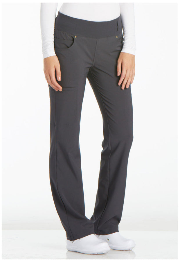 CK002<br> Mid Rise Straight Leg Pull-on Pant