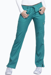 Cherokee Luxe Sport Women's Mid Rise Straight Leg Pull-on Pant - CK003P  Petite - ScrubHaven