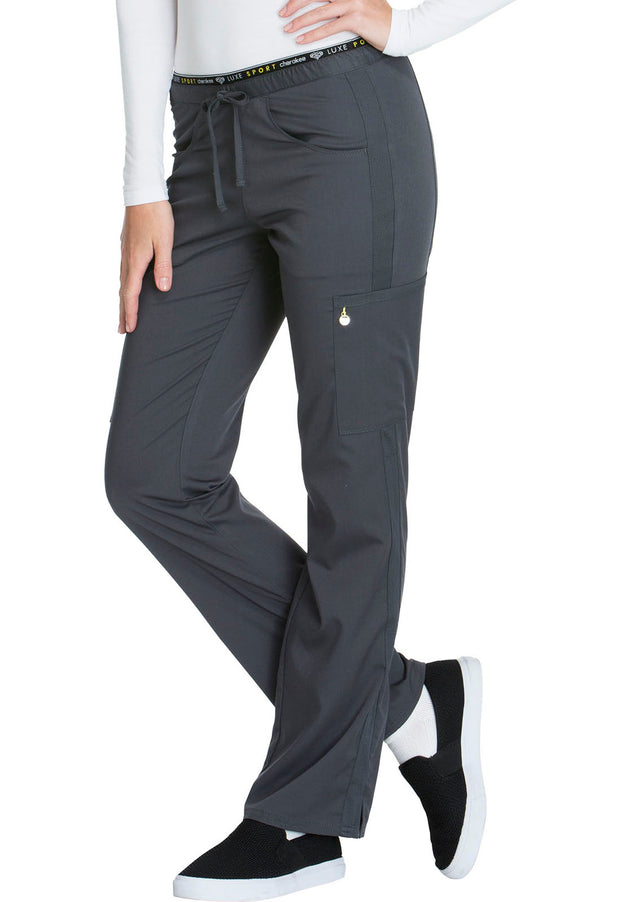 Cherokee Luxe Sport Women's Mid Rise Straight Leg Pull-on Pant - CK003T  Tall