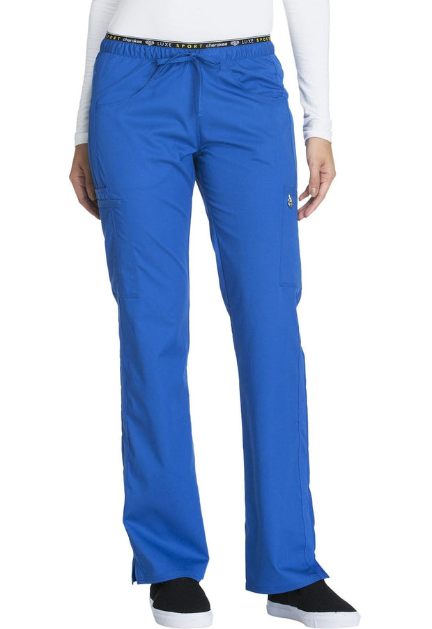 Cherokee Luxe Sport Women's Mid Rise Straight Leg Pull-on Pant - CK003T  Tall - ScrubHaven