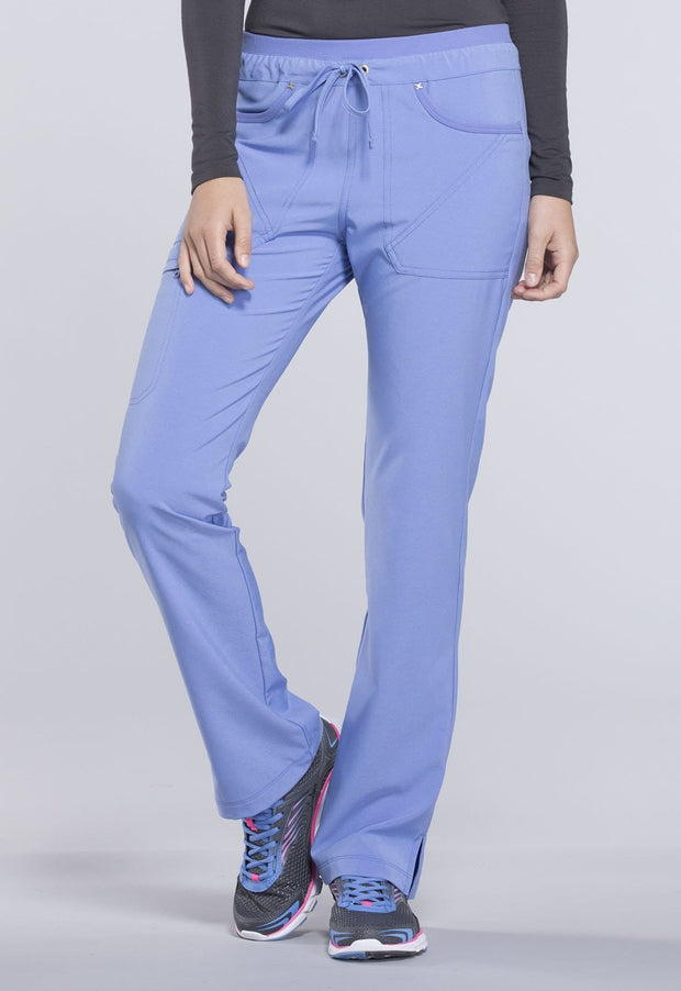 CK010T<br> Mid Rise Tapered Leg Drawstring Pants (Tall)