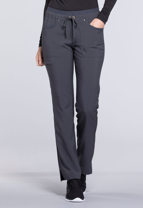 Cherokee iflex Women's Mid Rise Tapered Leg Drawstring Pants - CK010T  Tall