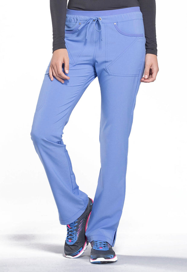 Mid Rise Tapered Leg Drawstring Pants