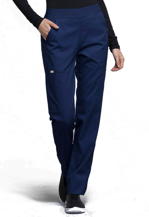 Cherokee Luxe Contemporary Fit Women's Natural Rise Tapered Leg Pant - CK040